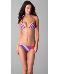 Marc By Marc Jacobs | Multicolor Merida Striped Triangle Bikini Top | Lyst