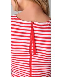 Pret-a-surf | Red Rash Guard Tank with Back Zip | Lyst