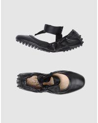 Tod's | Black Ballet Flats | Lyst