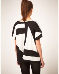 ASOS Collection | Black Asos T-Shirt in 90s Block Print | Lyst