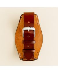 J.Crew | Brown Bucktown Shell Cordovan 20mm Bund Pad Watch Strap for Men | Lyst