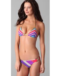 Marc By Marc Jacobs - Multicolor Merida Striped Triangle Bikini Top - Lyst