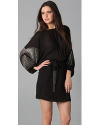Parker - Black Sprinkle Beads Batwing Dress - Lyst