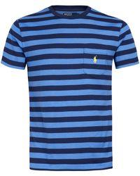 Polo Ralph Lauren - Blue Stripe Pocket T-shirt for Men - Lyst