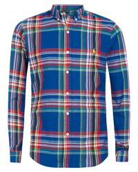 Polo Ralph Lauren | Blue Checked Shirt for Men | Lyst