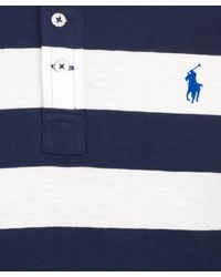 Polo Ralph Lauren | Blue Navy and White Stripe Jersey Shirt for Men | Lyst