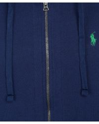 Polo Ralph Lauren | Blue Navy Zip Front Hoodie for Men | Lyst