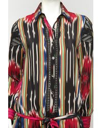 Thakoon | Multicolor Ikat Embroidered Shirt Dress | Lyst