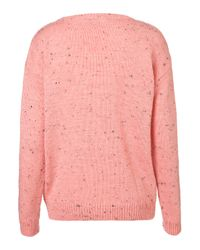 TOPSHOP - Pink Knitted Pastel Slouchy Jumper - Lyst