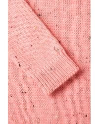 TOPSHOP | Pink Knitted Pastel Slouchy Jumper | Lyst
