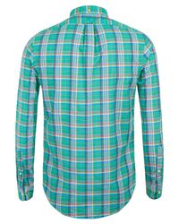Polo Ralph Lauren - Large Green Check Shirt for Men - Lyst