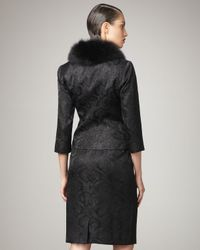 Bigio Collection | Black Fur-collar Jacquard Suit | Lyst
