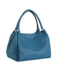 Bottega Veneta | Blue Empire Intrecciato Nappa Leather Parachute Bag | Lyst