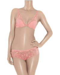 Calvin Klein - Pink Underwear Perfectly Fit Bouquet All Lace Hipster - Lyst