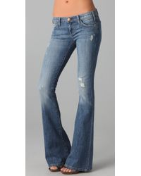 Current/Elliott | Blue The Lowbell Jeans | Lyst