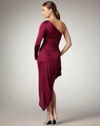David Meister | Red Asymmetric One-sleeve Dress | Lyst