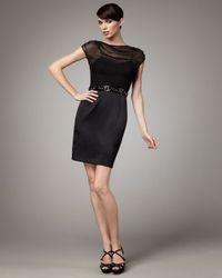 Hoaglund New York | Black Illusion-top Dress | Lyst