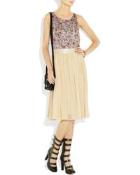 See By Chloé | White Cotton and Silk-blend Georgette Midi Skirt | Lyst