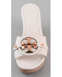 Tory Burch | White Patti 3 Mid Wedge Slide | Lyst