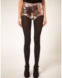 ASOS Collection - Black Asos Petite Exclusive Party Sequin Knicker Shorts - Lyst