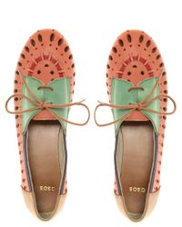 ASOS - Multicolor Milan Leather Laser Cut Out Shoes - Lyst