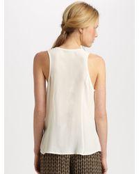 Joie - White Balsa Silk Pocket Racerback Blouse - Lyst