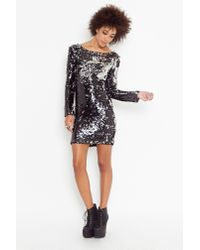 Nasty Gal | Black Cruel Mirage Sequin Dress | Lyst