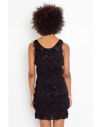 Nasty Gal - Black Eyelash Fringe Dress  - Lyst