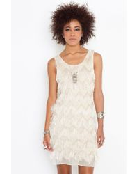 Nasty Gal - Natural Eyelash Fringe Dress  - Lyst
