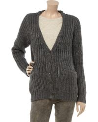 Rag & Bone | Brown The Chunky Knitted Cardigan | Lyst