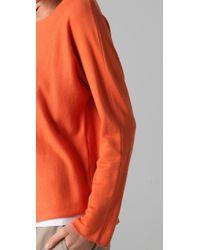 VINCE | Orange Dolman Sleeve Sweater | Lyst