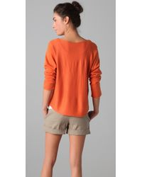 Vince - Orange Dolman Sleeve Sweater - Lyst