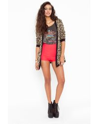 Nasty Gal - Pink High Waist Hot Shorts - Lyst