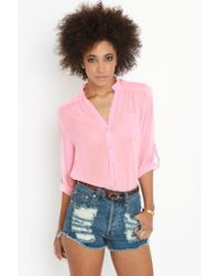 Nasty Gal | Pink Rock Candy Blouse  | Lyst