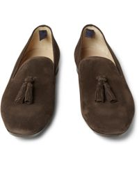 Alexander McQueen | Brown Suede Tassel Loafers for Men | Lyst