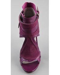 Camilla Skovgaard   Purple Tongue Stiletto Booties   Lyst