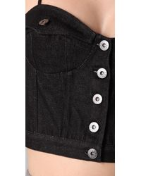 Opening Ceremony | Black Jean Jacket Bustier Top | Lyst