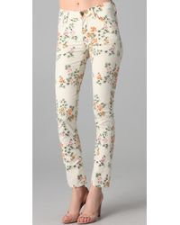 Citizens of Humanity | Mandly Floral Roll Up Jeans | Lyst