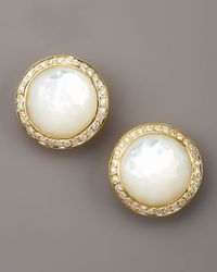Ippolita - Metallic Mother-Of-Pearl Diamond Earrings - Lyst