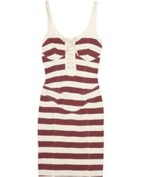 Isabel Marant | White Gusto Striped Cotton-jersey Tank Dress | Lyst