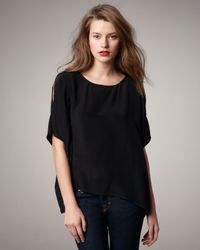 Joie - Black Hiori Slit-sleeve Top - Lyst
