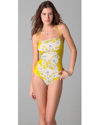 Juicy Couture | Yellow Onepiece Tea Rose Swimsuit | Lyst