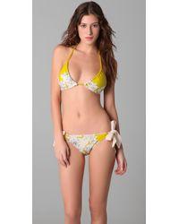 Juicy Couture - Yellow Tea Rose Side Tie Bikini Bottoms - Lyst