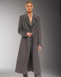 Michael Kors | Gray Melange Melton Coat | Lyst