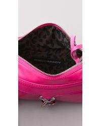 Rebecca Minkoff - Pink Neon Lizard Mini Mac Bag - Lyst