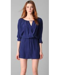 Twelfth Street Cynthia Vincent | Blue Cross Front Mini Dress | Lyst