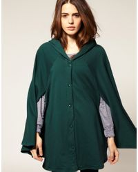 American Apparel | Green Fleece Cape | Lyst