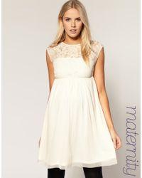 ASOS | White Maternity Lace Skater Dress | Lyst
