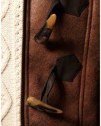ASOS Collection - Brown Asos Petite Faux Shearling Duffle Coat - Lyst