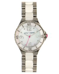 Betsey Johnson | Gray Lots N Lots Of Time Ceramic & Steel Watch | Lyst